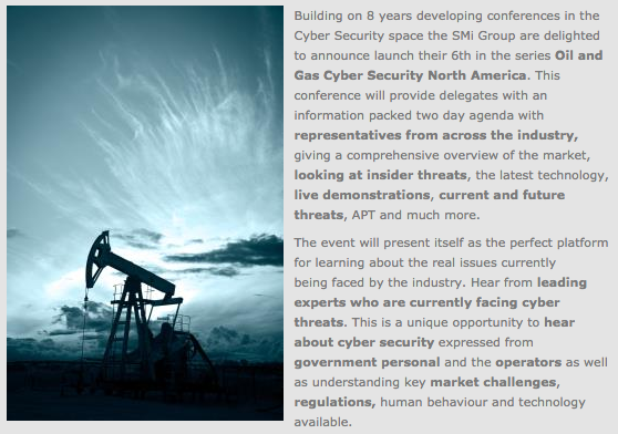 2015 Oil & Gas Cybersecurity Conference