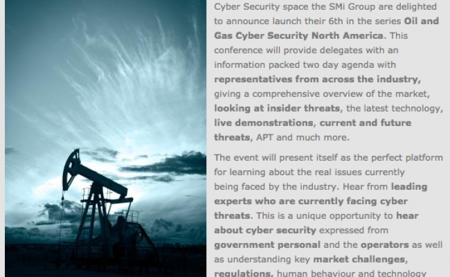 SMI Oil & Gas Cybersecurity Conference