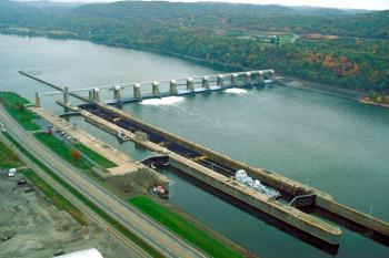 New Cumberland Locks & Dam on Ohio River